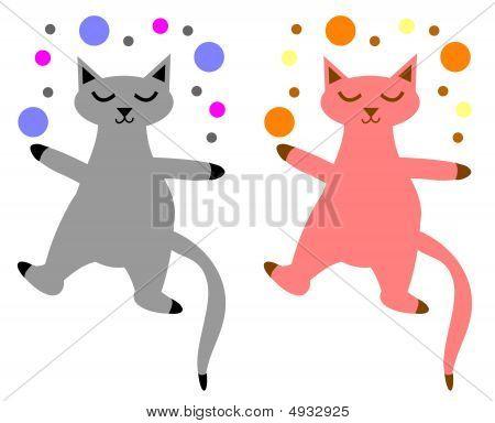 Playful Cats Set
