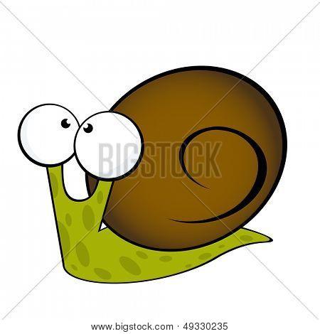 Ilustración de caracol lindo