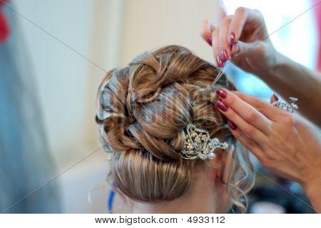 Making Wedding Coiffure