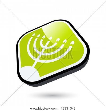 modern menorah sign