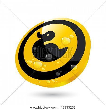 modern rubber duck sign