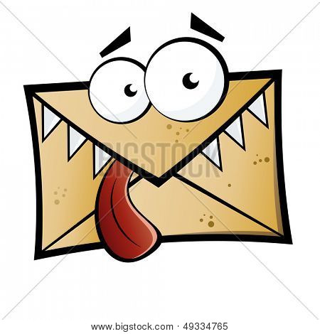 funny cartoon mail monster