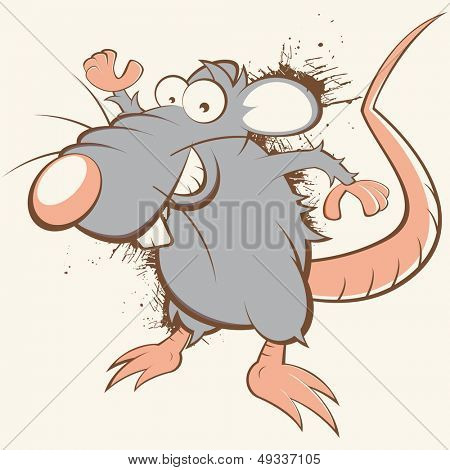 vintage cartoon rat