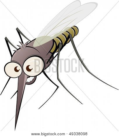 nasty cartoon mosquito