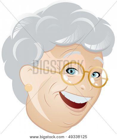 funny cartoon grandmother