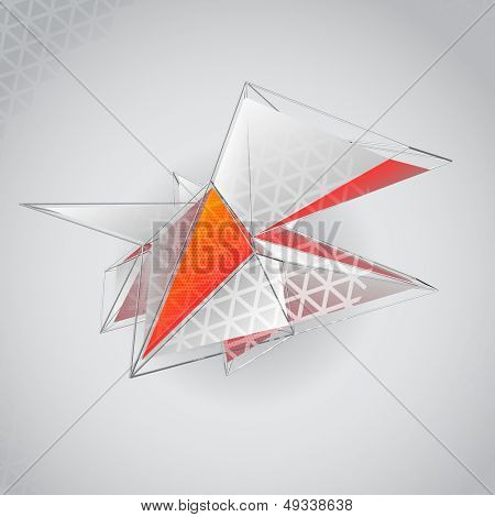 Abstract 3D polygonal vector background