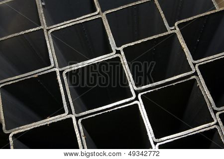 rectangular welded pipes made of steel