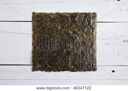 A Sheet Of Dried Seaweed