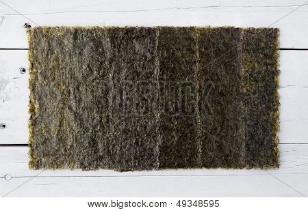 Several Pieces Of Dried Seaweed