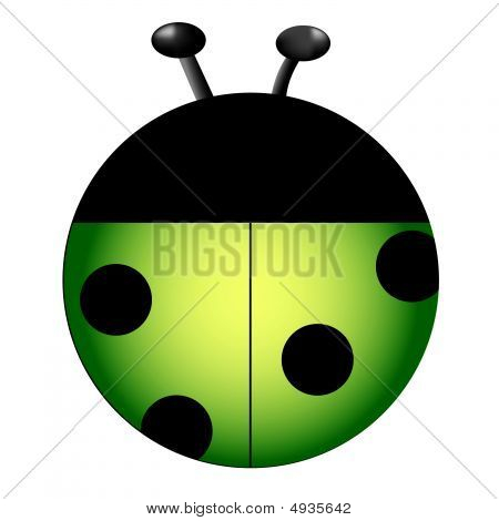 Light Green Lady bug vector image drawn for a personal icon set. poster