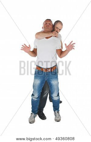 Man Choking Other Man