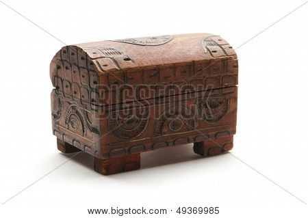 Closed Wooden Coffer
