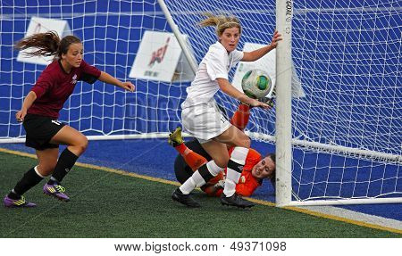 Canada Games Soccer Women Ball Keeper Action