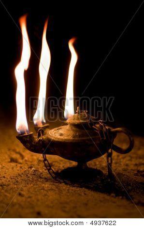 Aged Oil Lamp