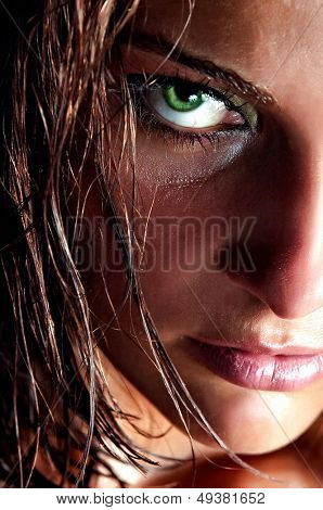 closeup portrait of wild girl