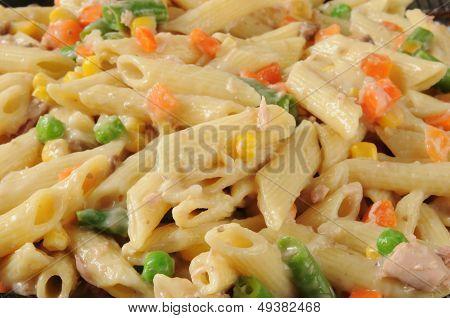 Closeup Of Tuna Noodle Casserole