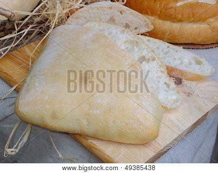 Fresh homemade Bulgarian bread