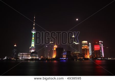The Bund, Pudong, Shanghai Night