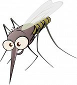 nasty cartoon mosquito poster