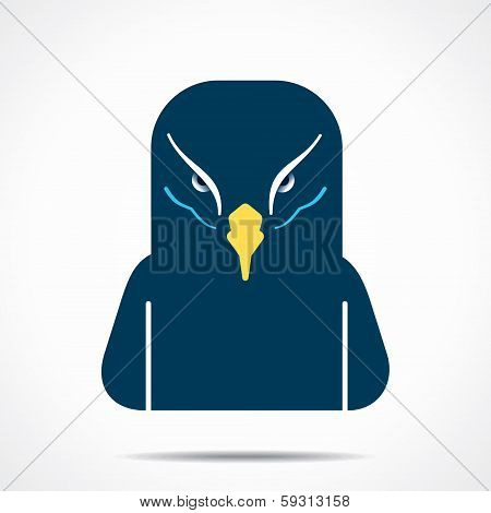 creative eagle face stock vector
