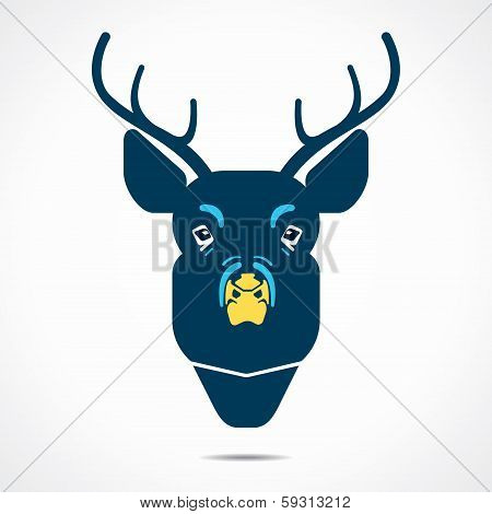 deer cartoon face stock vector