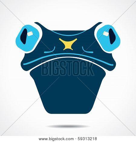 creative frog  face stock vector