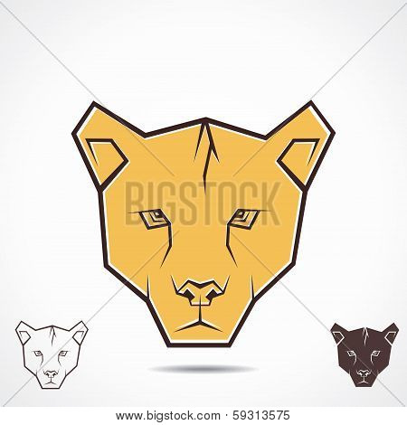 tiger creative face stock vector