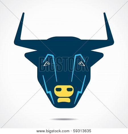 abstract bull face stock vector