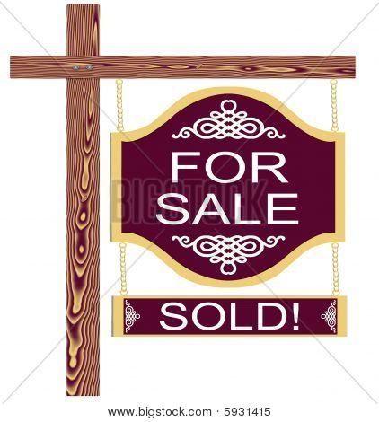 Fancy For Sale Sign Sold