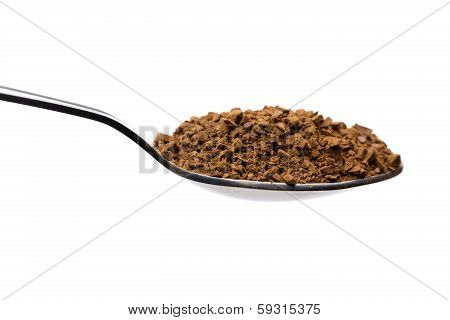 Instant Coffee On A Spoon