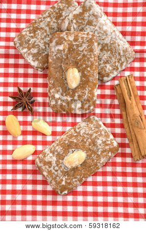 German Gingerbread Lebkuchen Cookies for Christmas