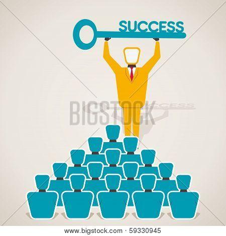 educate success key concept vector
