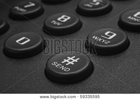 Send Button Of Black Phone