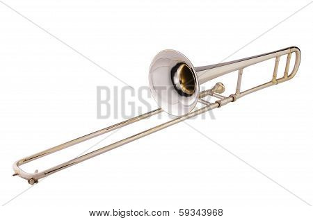 Trombone On White Background