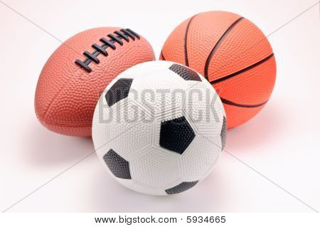 Toy Basketball, Football And Soccer Balls