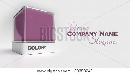Design block in a purple color