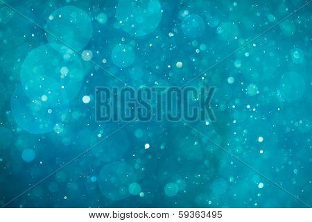 blue shiny bokeh background