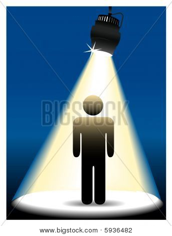 Symbol Person On Stage In The Spotlight