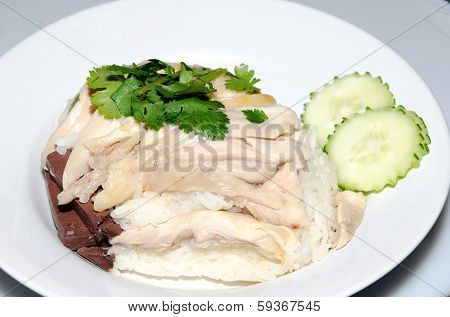 Rice Steamed With Chicken Soup