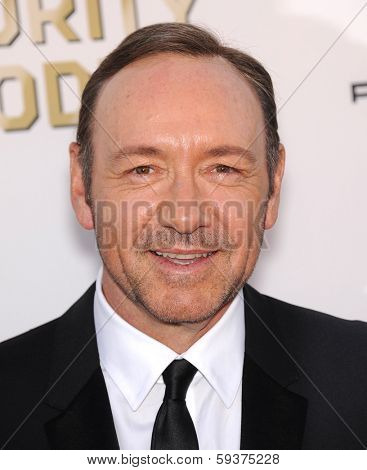 LOS ANGELES - JAN 16:  Kevin Spacey arrives to the Critics' Choice Movie Awards 2014  on January 16, 2014 in Santa Monica, CA