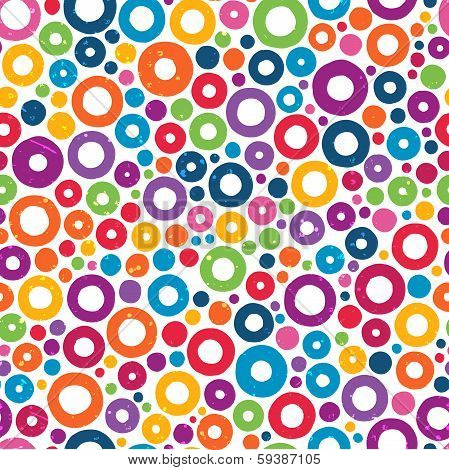 Colorful seamless pattern with hand drawn circles.