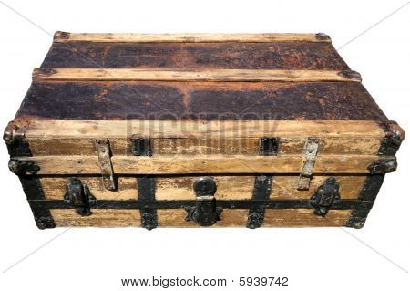 Старый античный чемодан