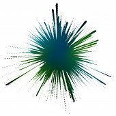 Editable vector illustration of an ink splash made by masking a background color mesh poster