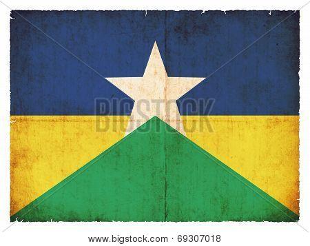 Grunge Flag Of Rondonia (brazil)