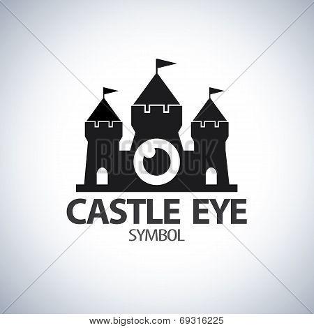 Castle Eye Symbol Icon