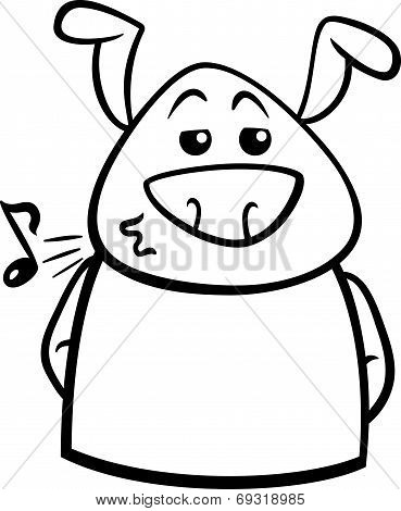 Chill Dog Cartoon Coloring Page