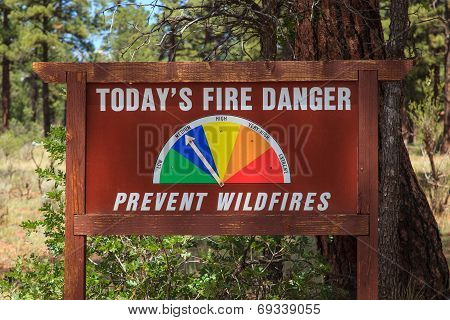 Forest Fire Danger Sign