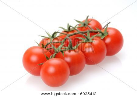 Tomato with white background