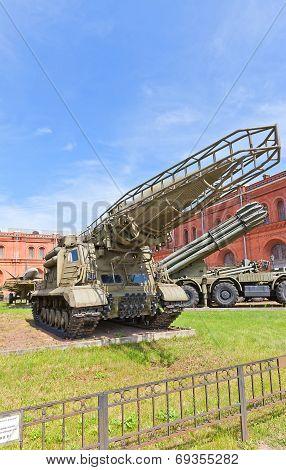 Soviet Rocket Launcher 2P19 Of Ballistic Missile Complex 9K72 Elbrus