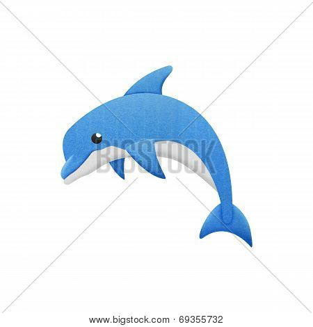 Dolphin Cartoon Is Fish In Underwater To Sea